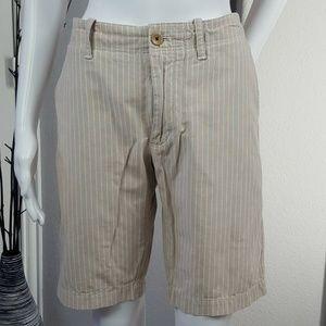 Banana Republic Straight Beige Striped Shorts- 31